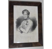 """Gravure """"le Duc de Reichstadt"""" par CARRIÈRE 1833"""
