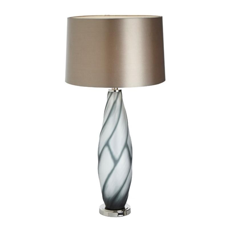 "Lampe ""Sofia"" en verre soufflé et nickel"