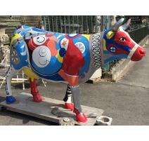 """Vache motif """"Picasso"""""""