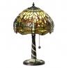 "Petite lampe ""Libellules vertes"" style Tiffany"