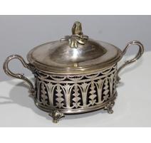 Confiturier ovale de Christofle en métal argenté
