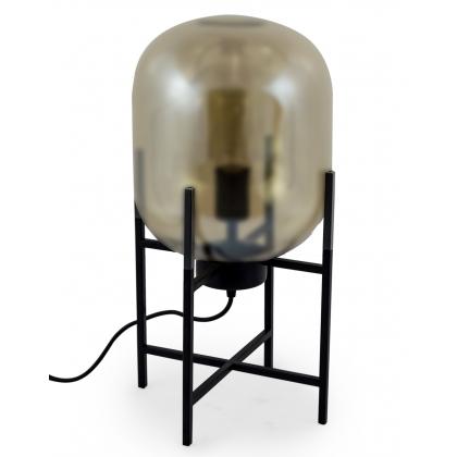 Lampe Edison verre légèrement doré