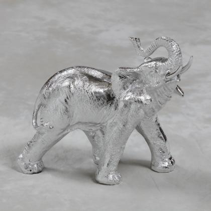 Eléphant en résine chromée