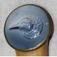 Ombrelle en soie bleue et pomeau en porcelaine