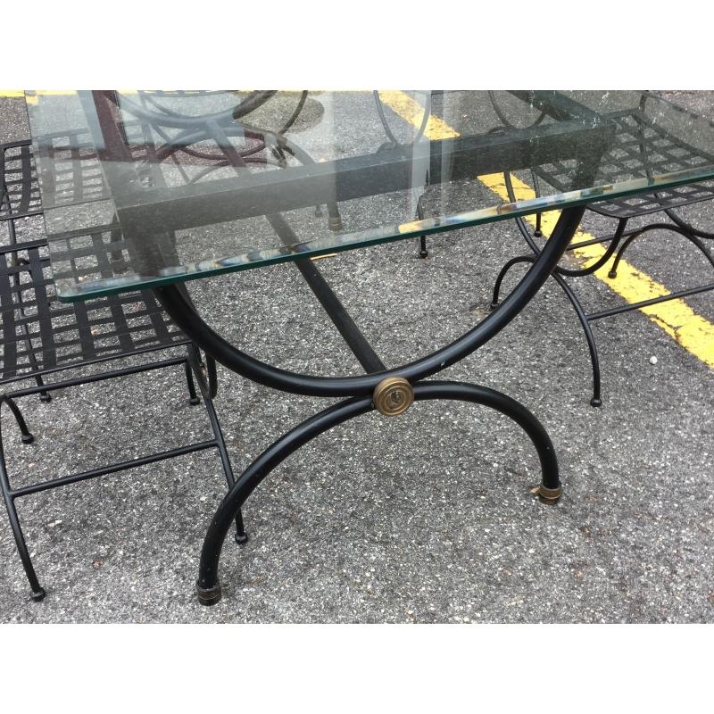 Ensemble de jardin table et 6 chaises fer forg sur moinat sa antiquit s d coration - Table jardin fer forge ...
