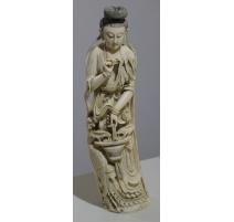 "Sculpture ""Guanyin et phoenix"""