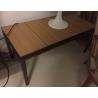 Table basse en bronze plateau en chêne