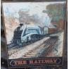 """Panneau double face en tôle peinte """"The Railway"""""""