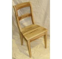 Chaise style Louis-Philippe en noyer brut
