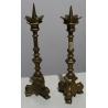 Paire de pique cierges en bronze