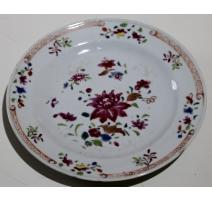 """Assiette en porcelaine chinoise """"Fleurs"""" (cheveu)"""