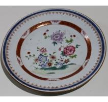 """Assiette en porcelaine chinoise """"Fleurs"""""""