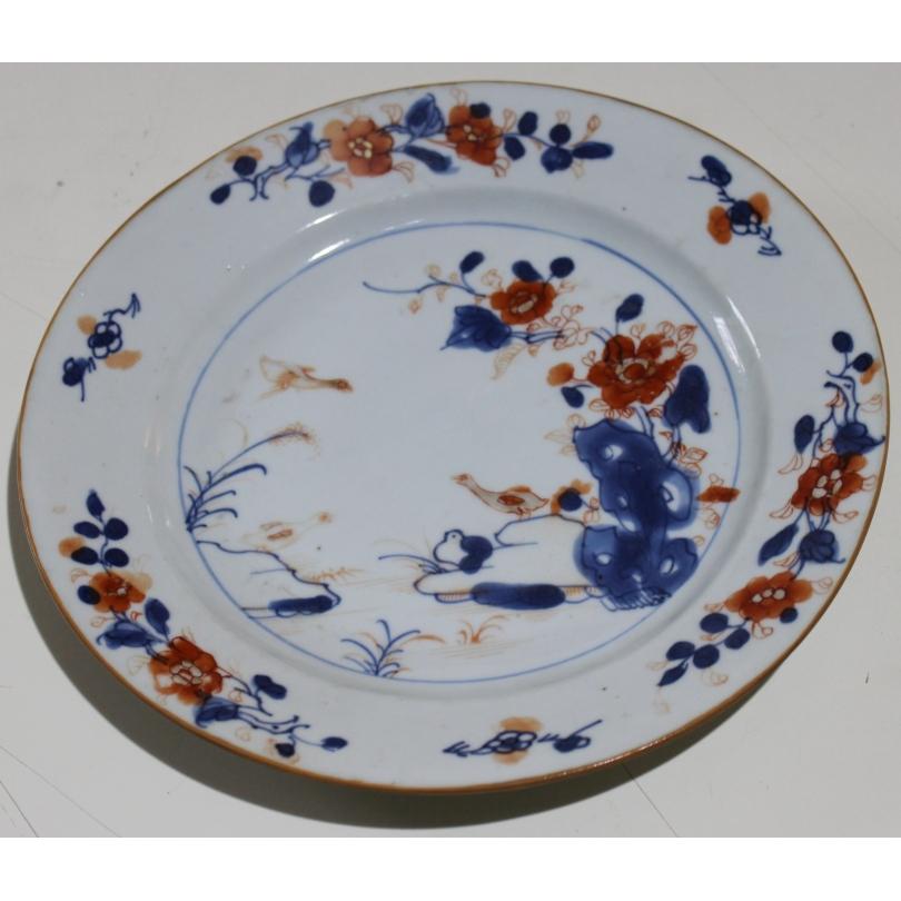 """Assiette en porcelaine chinoise """"Oies"""""""