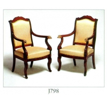 Pair of armchairs Empire mahogany
