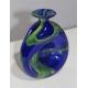 Vase pincé de Murano vert et bleu