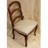 Chaise style Louis XV bernoise en noyer