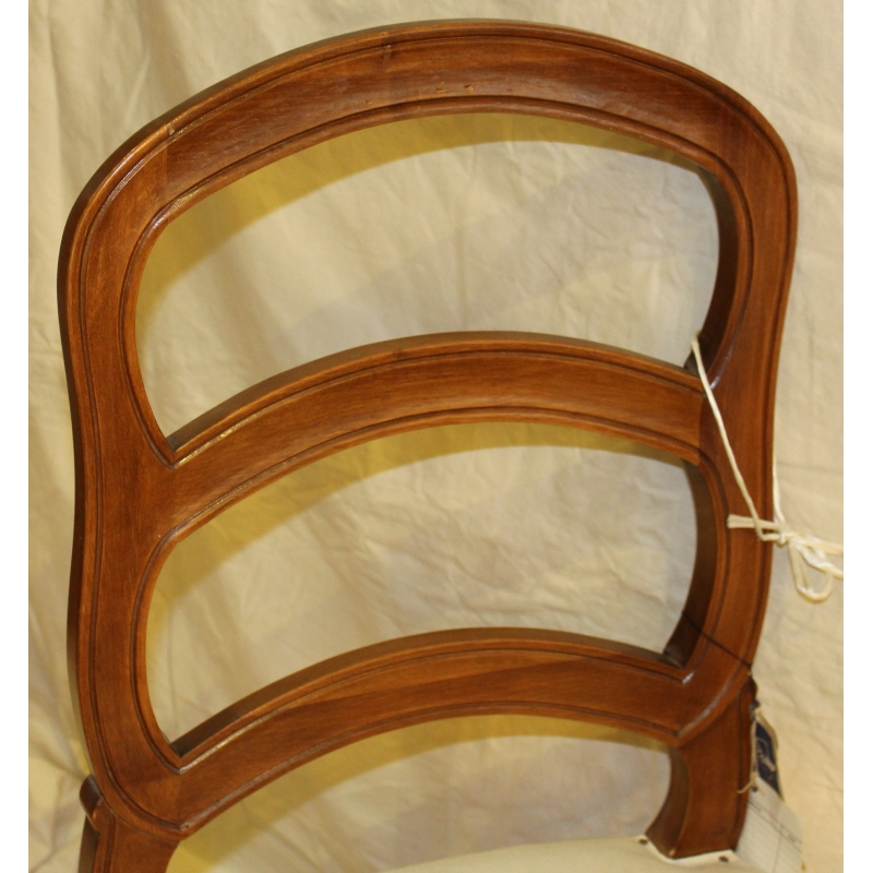 chaise style louis xv bernoise en noyer moinat sa. Black Bedroom Furniture Sets. Home Design Ideas