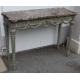 Console style Louis XVI peinte gris dessus marbre