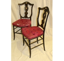 Paire de chaises Napoléon III noire
