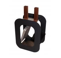 """Outils de cheminée """"Cube"""" balayette et pelle"""