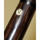 Canne crosse en faux bambou argenté RCM