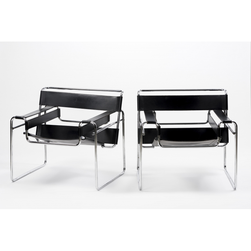 Paire de fauteuils Wassily modèle B3 de BREUER