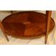 Petite table ovale à deux plateaux