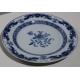 Assiette en porcelaine bleu blanc