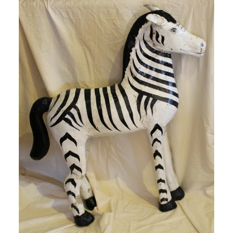 Zebre En Papier Mache Sur Moinat Sa Antiquites Decoration