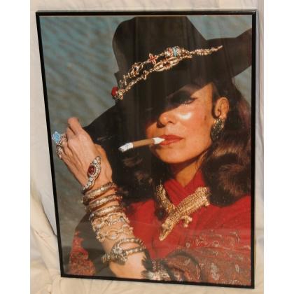 """Poster encadré """"María Félix"""" pour Cartier"""