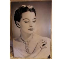 """Poster sur alu """"Portrait de femme"""" pour Cartier"""