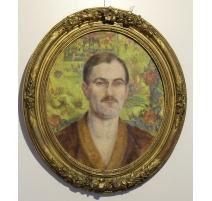 Portrait ovale dans le gout de FORESTIER