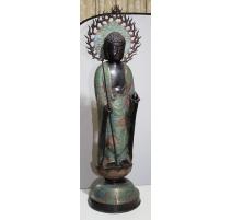Amida butsu en bronze cloisonné
