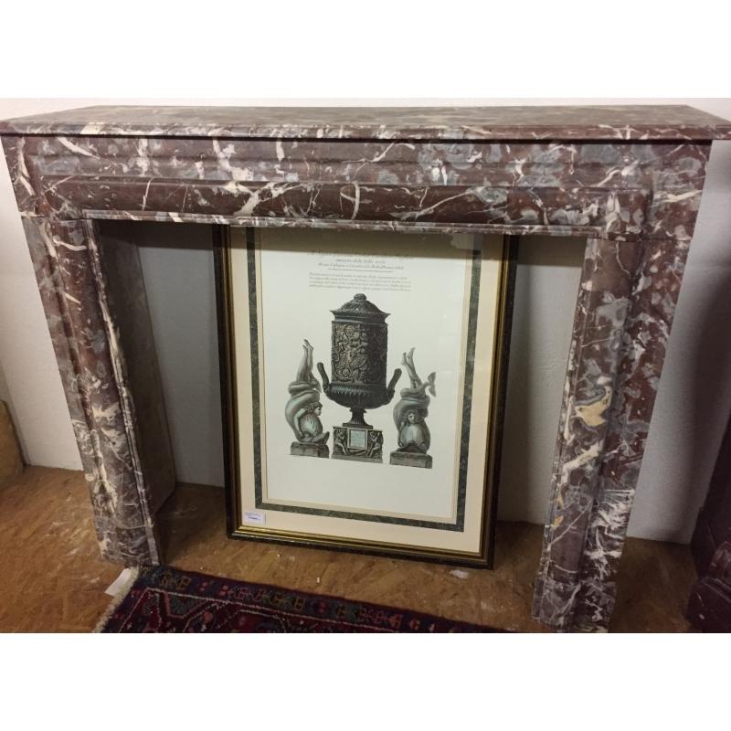 chemin e louis philippe en marbre rouge moinat sa antiquit s d coration. Black Bedroom Furniture Sets. Home Design Ideas
