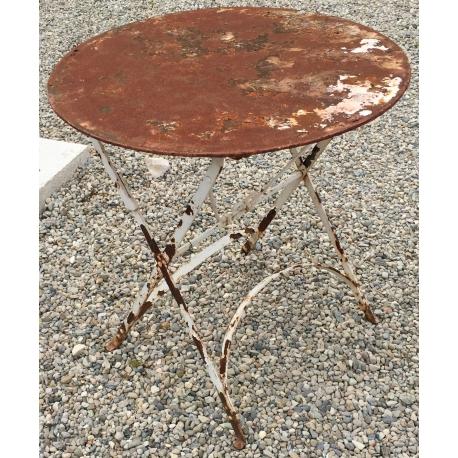 Table En Fer Forgé Ronde Pliante Moinat Sa Antiquités Décoration