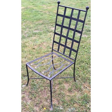 chaise de jardin en fer forg noir moinat sa antiquit s d coration. Black Bedroom Furniture Sets. Home Design Ideas