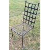 Chaise de jardin en fer forgé noir