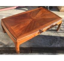Table basse plateau façon parquet