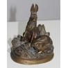 """Bronze """"Deux lapins"""" signé DUBUCAND"""
