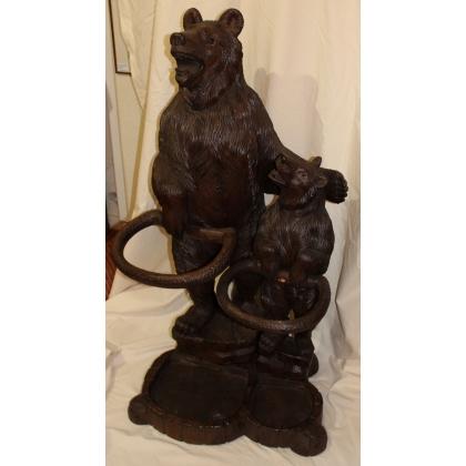 Porte parapluie deux ours de Brienz