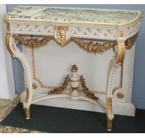Console style Louis XVI richement sculptée