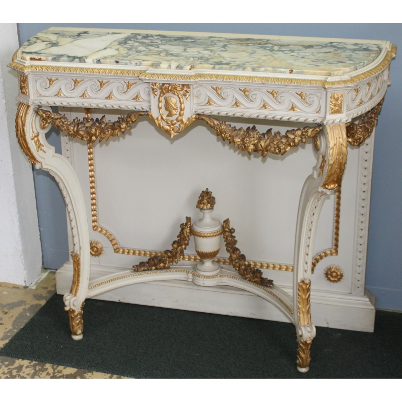 Console style Louis XVI richement sculptée