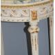 Guéridon ovale style Louis XVI sculpté