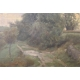 "Tableau ""Lac d'Annecy"" signé F. POGGI 1864"