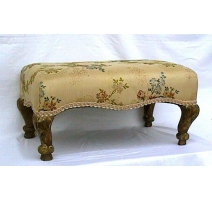 Stool Regency carved, gilded wood.