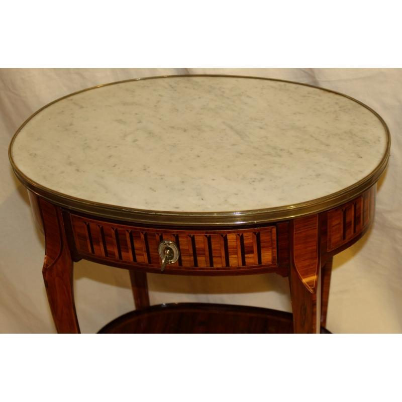 gu ridon ovale transition plateau en marbre blanc moinat sa antiquit s d coration. Black Bedroom Furniture Sets. Home Design Ideas