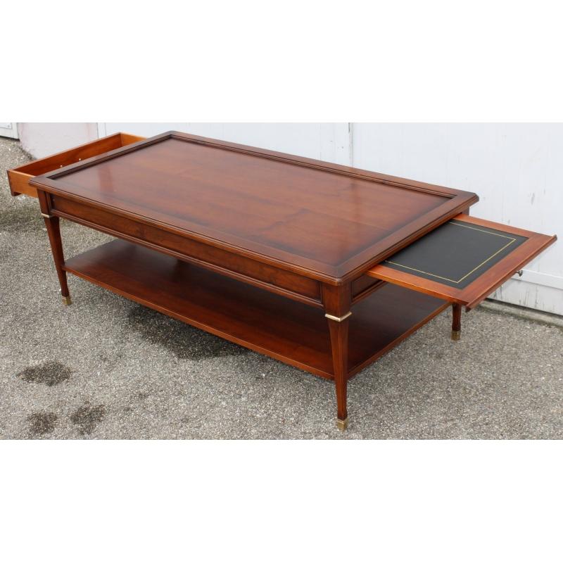 table basse de style good table basse bar pauline ralise en merisier de style louis philippe. Black Bedroom Furniture Sets. Home Design Ideas