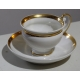 Service à café en porcelaine de Paris doré