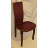 Chaise Lara de CATTELAN en cuir bordeaux