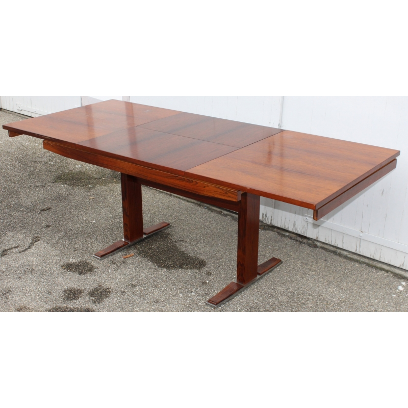 Table en palissandre marqu e asch sur moinat sa for Table avec rallonge incorporee